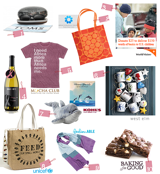 Top 10 Picks: Charitable Holiday Gifts