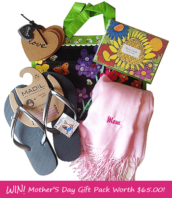 mothers day giveaway gift pack Giveaway: WIN! Mothers Day Gift Pack Worth $65.00!