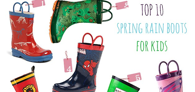 Top 10 Thursdays: Spring Rain Boots for Kids