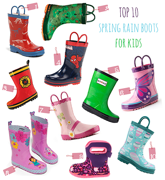 top 10 spring rain boots kids kidorable stonz stephen joseph BLOG Top 10 Thursdays: Spring Rain Boots for Kids