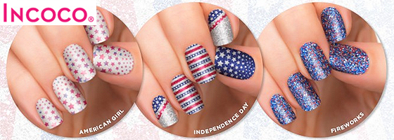 incoco nail strips 4thofjuly patriotic independence day america Fashion Fridays: Easy Patriotic Nails with Incoco Nail Strips