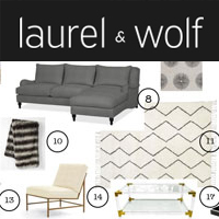 laurel and wolf online interior design help Wish List Wednesdays: Redesign Your Home With Online Help From Laurel & Wolf