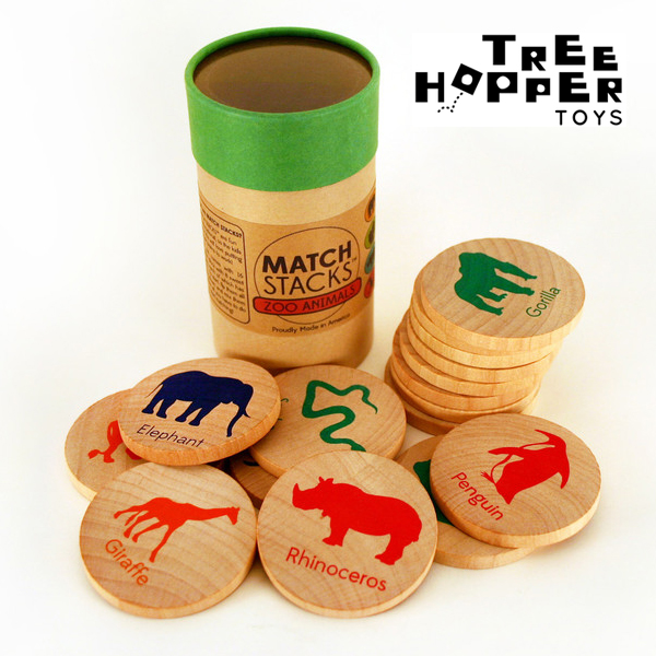 tree hopper toys match sticks wooden nickel toys Tiny Tots Tuesdays: Test Your Memory with Tree Hopper Toys Match Stacks