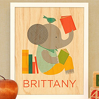 petite collage personalized nursery prints Tiny Tots Tuesdays: Personalized Nursery Prints from Petit Collage