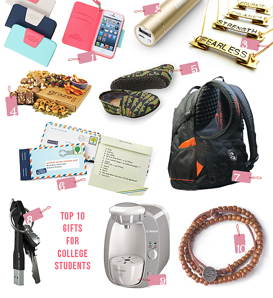 top 10 gifts college students BLOG Top 10 Thursdays: Great Gifts for College Students