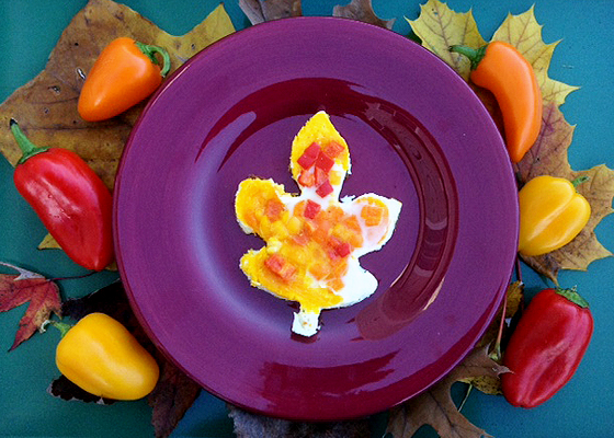 fall omelet sweet peppers farm egg leaf cookie cutter FINISHED Tiny Tots Tuesdays: Celebrate Fall with Your Family and our Sweet Pepper Egg Scramble!