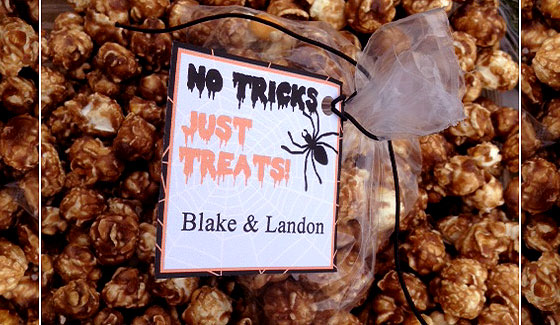 happy halloween free printable treat bag Mindful Mondays: Free Halloween Printable! No Tricks Just Treats    Personalize It!