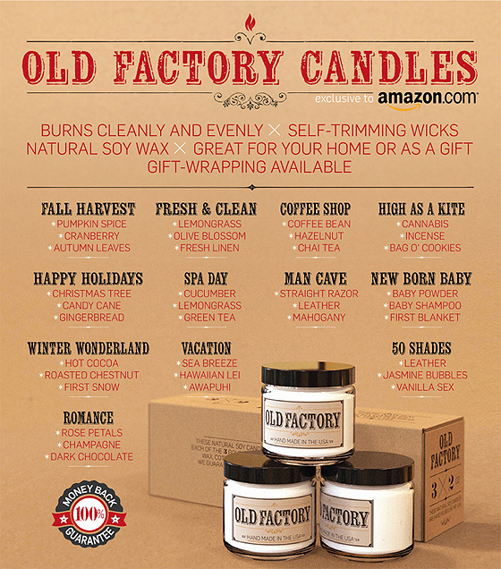 oldfactorycandle set pumpkin christmas 50shades Holiday 2014: Old Factory Candles, Made in the USA! + Giveaway!