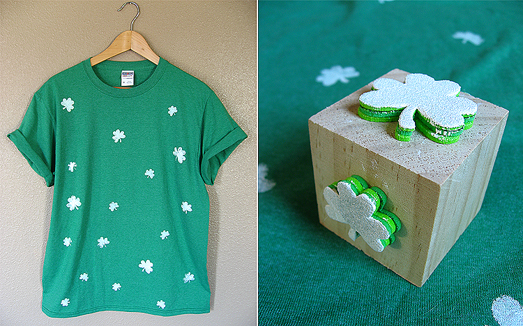 DIY_confetti_shamrock_shirt_st_patricks_day_stamp_shirt_finished_closeup
