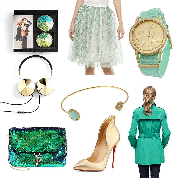 green_blue_fashion_friday_frends_headphones_mermaid_lauren_conrad_cinderella
