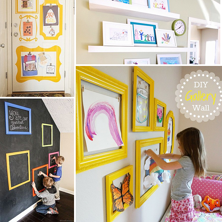6 Ideas On How To Display Your Home Accessories: Display Your Children's Artwork With These Easy DIY Home